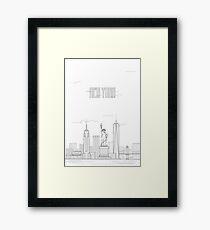 New York city iconic buildings Framed Print