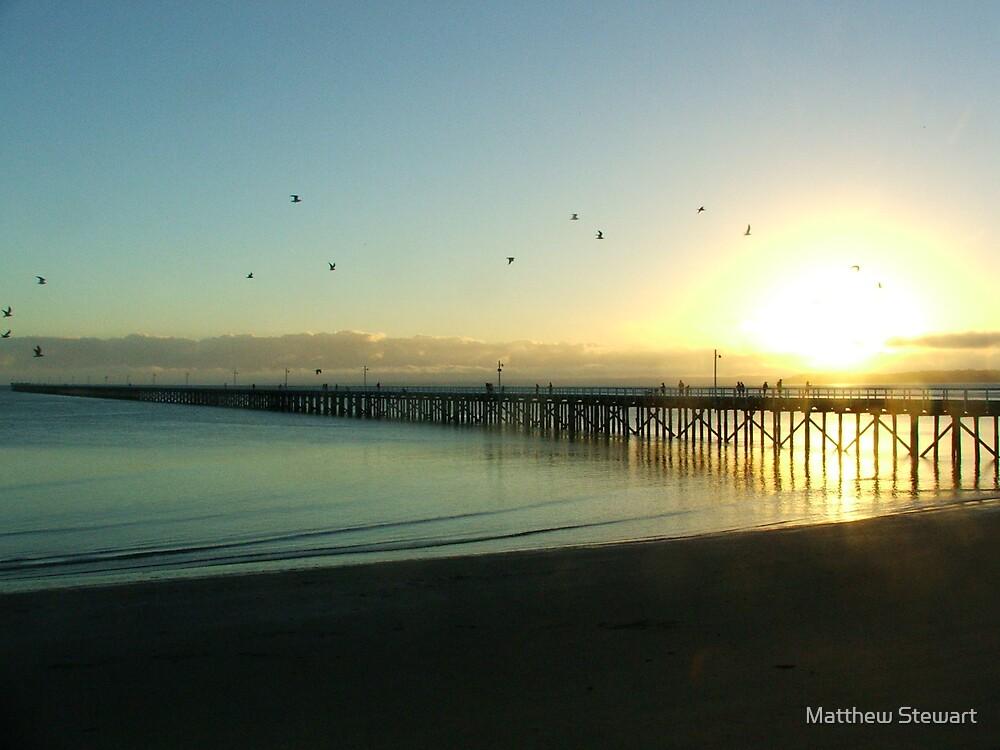 Sunrise On The Pier by Matthew Stewart