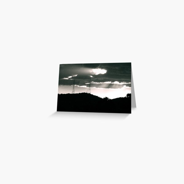 Aerial Silhouettes  Greeting Card