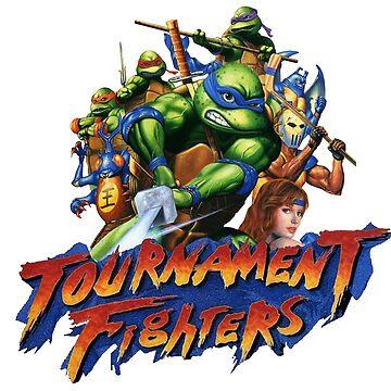 TMNT TOURNAMENT FIGHTERS - CUSTOM TURTLES ARTWORK - TEE, TANKTOP, ETC by vulgaris1901