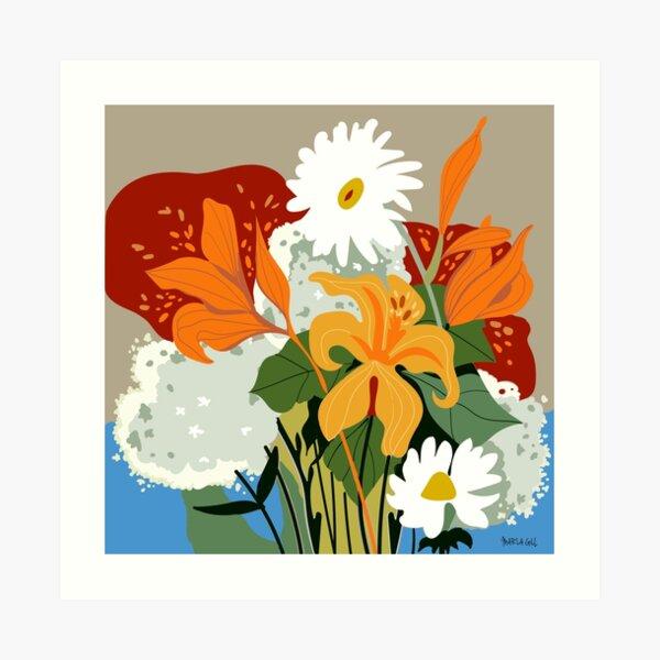 Lillies and Daisies Art Print