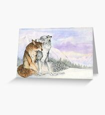 Arctic Werewolves Greeting Card
