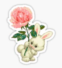Bunny Rose Sticker