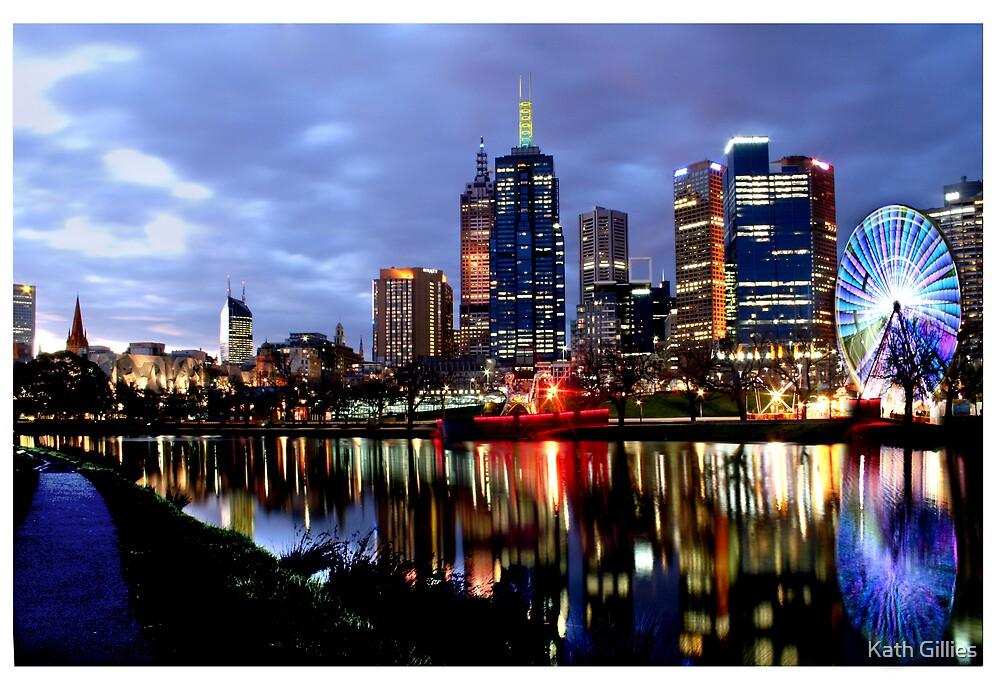 Melbourne ferris Wheel by Kath Gillies