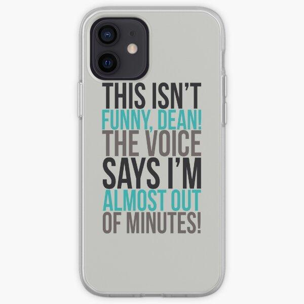¡La voz dice que estoy casi sin minutos! Funda blanda para iPhone