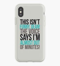 The voice says I'm almost out of minutes! iPhone Case