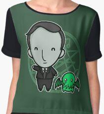 HP Lovecraft and Friend Women's Chiffon Top