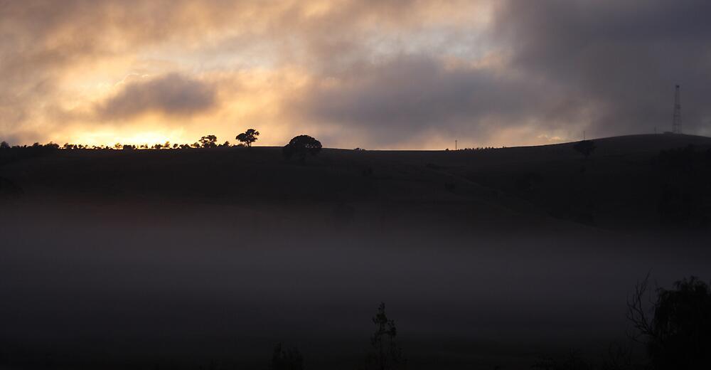Hilltop sunrise #2 by Nzaweird