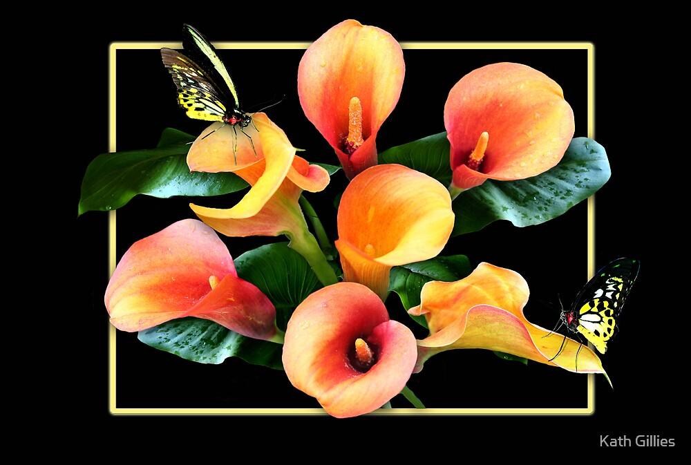 Orange lilies by Kath Gillies