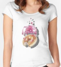 Space Doughnut Women's Fitted Scoop T-Shirt