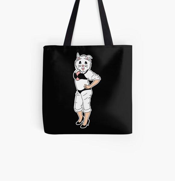 Bunny Girl All Over Print Tote Bag
