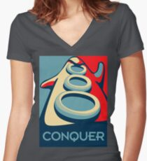 Conquer Women's Fitted V-Neck T-Shirt