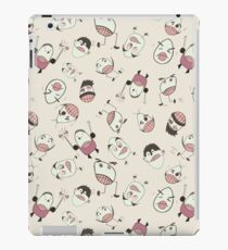 Goofy Running Eggheads with Silly Faces iPad Case/Skin