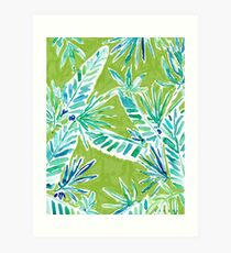 TROPICAL GREENERY Art Print