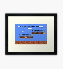 Video Game Lyrics   Framed Print
