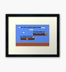 Video Game Lyrics   Framed Print