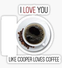 Romantic Twin peaks coffee reference design Sticker