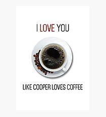 Romantic Twin peaks coffee reference design Photographic Print