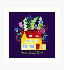 Home Sweet Home. Watercolor illustration Art Print
