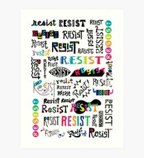 resist them white Art Print