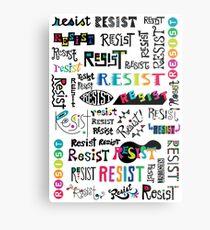 resist them white Metal Print