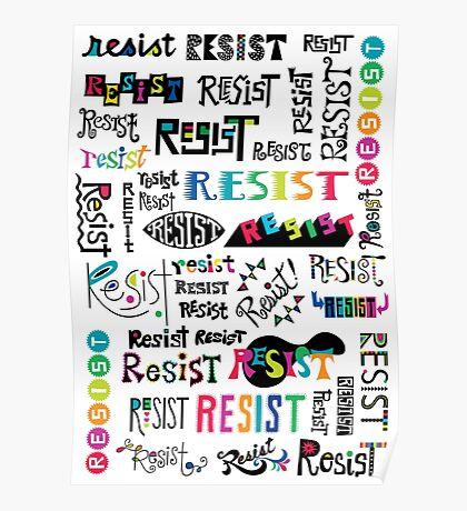 resist them white Poster