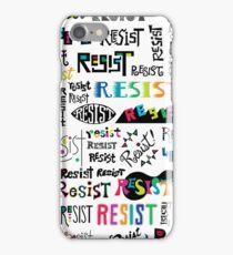resist them white iPhone Case/Skin