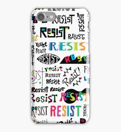 resist them white iPhone Case/Skin