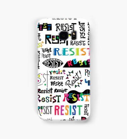 resist them white Samsung Galaxy Case/Skin