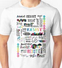 resist them white Unisex T-Shirt