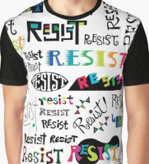 resist them white Graphic T-Shirt