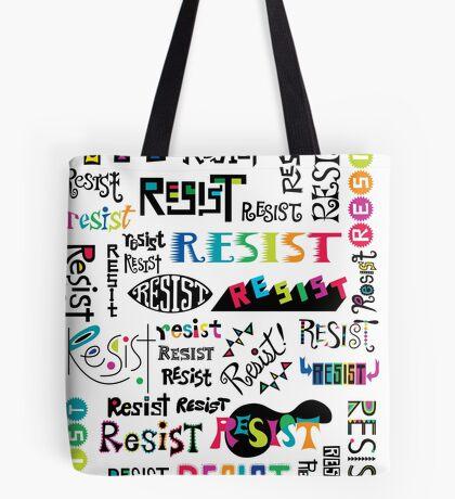 resist them white Tote Bag