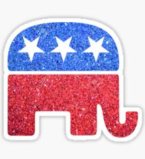 Glitter Republican Elephant Sticker