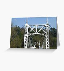 White Bridge Greeting Card