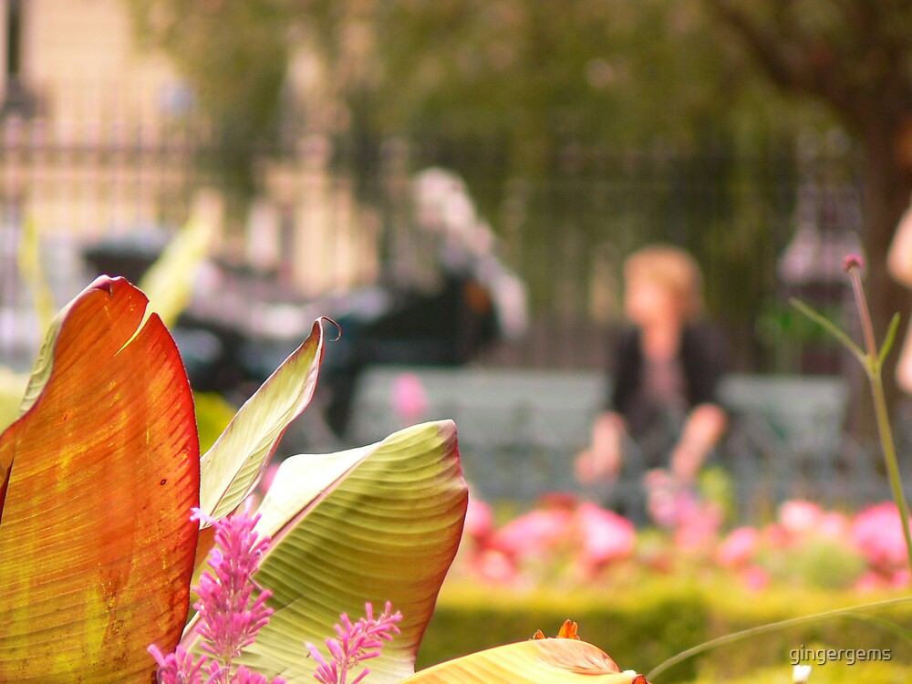 In the garden of Notre-Dame by gingergems