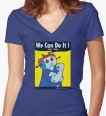 Rosie Made By The Riveter  Women's Fitted V-Neck T-Shirt