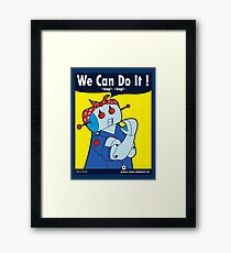 Rosie Made By The Riveter  Framed Print