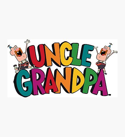 Uncle Grandpa Photographic Print