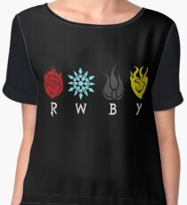 Team RWBY Logos Chiffon Top