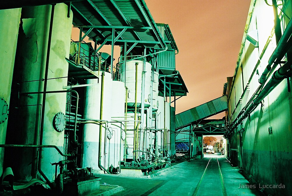 Edip Oil Plant Night by James  Luccarda