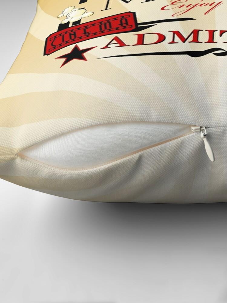 Vista alternativa de Cojín Cine Admitir un boleto Cinema Pillow-Red