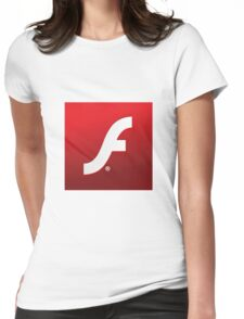 Adobe Flash logo Womens Fitted T-Shirt