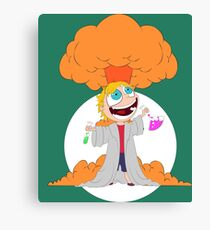 Science goes Boom! Canvas Print