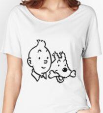 Tintin & Milou Women's Relaxed Fit T-Shirt