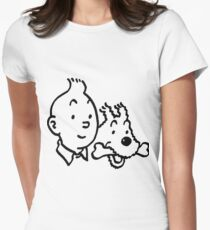 Tintin & Milou Womens Fitted T-Shirt