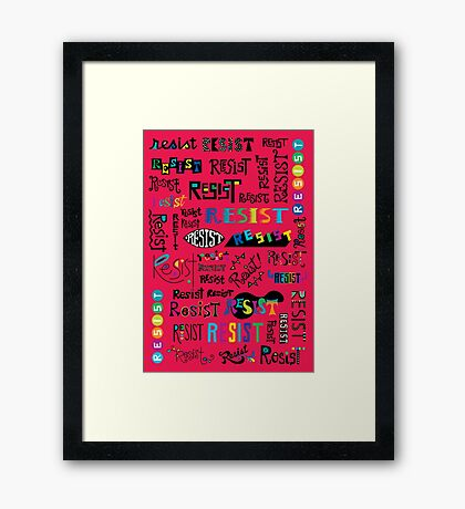 Resist Them cherry Framed Print