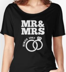 50th Wedding Anniversary Gift T-Shirt Mr & Mrs Since 1967 Women's Relaxed Fit T-Shirt