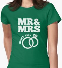 50th Wedding Anniversary Gift T-Shirt Mr & Mrs Since 1967 Womens Fitted T-Shirt