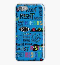 Resist Them blue iPhone Case/Skin