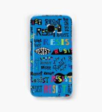 Resist Them blue Samsung Galaxy Case/Skin